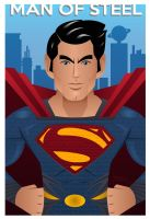 Man of Steel Vectors by JaZaDesign
