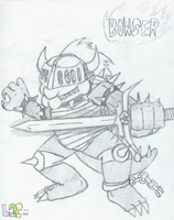 Banished knight Bowser by luigi2cool