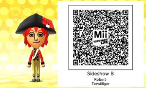 Sideshow Bob's Tomodachi Life QR Code by MonstrousPegasister