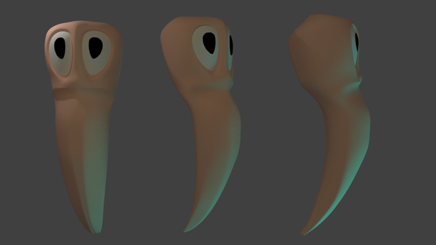 practice of modeling worm by shaggy6963
