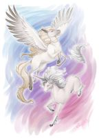 Pegasus and Unicorn by Kinky-chichi