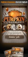 Pumpkin Party Halloween Party Flyer Template by ImperialFlyers