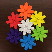 Snowflake color wheel by Origami1105