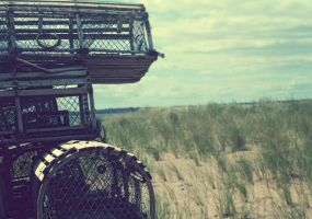 Poverty Beach Lobster Traps by Aeltari