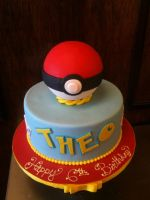 Pokeball Cake by Spudnuts
