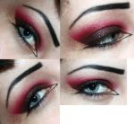 Gold, Black, and Red Cat Eye by catharinejoy