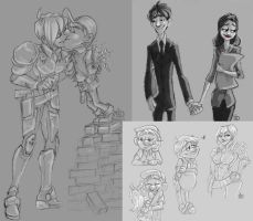 Wreck it Ralph Sketches by Redundantthoughts