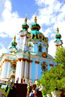 Saint Andrew's Church in Kiev by DarkSoviet