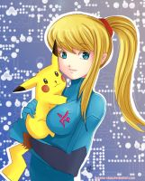 -- Samus and Pikachu -- by Kurama-chan