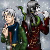 Holiday Cheer :Kabuto+Oro: by Yakushi--Kabuto