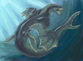 Aquatic Dragon by arvalis