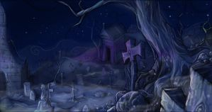 cemetery by Linouuu