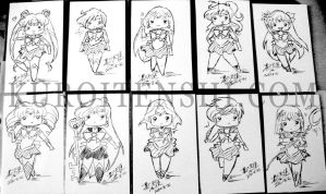 Sailormoon Tiny Card Chibi by kuroitenshi13