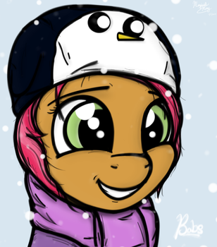 Babs with a Gunter Hat by MagicalHoney