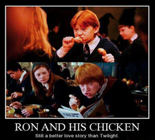 Ron and his chicken by GoldenPhoenix75