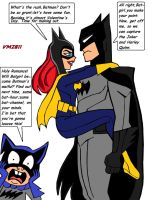Batman and Batgirl:Valentine sillyness by VectorMagnus2011