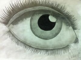 My drawing of an eye by MindiieFR