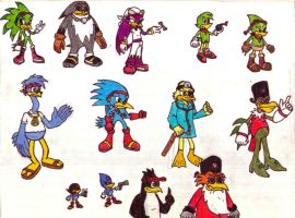 Birds of the Sonic Universe by SagaHanson25