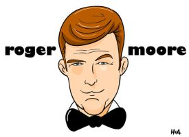roger moore by superhilalo