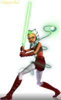 Ahsoka using magic by MagicalyMade
