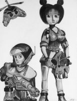 Jet Force Gemini: Juno, Vela, Floyd by shadwgrl
