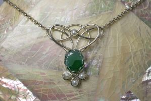 Shaylee Emerald Fairy Necklace by JoslinJewels