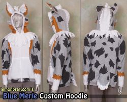 Blue Merle Custom Hoodie! by lemonbrat