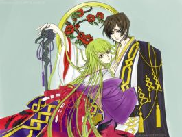 Lelouch and CC by korean64