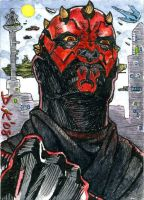 Darth Maul Sketch Card by DKuang