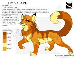 Lionblaze Character Sheet by Nightrizer