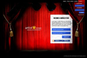 artist manager login in page by kristapzs