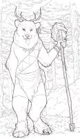 Forest Guardian Lineart by Kium