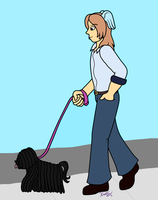 Walking the Dog by Katzy