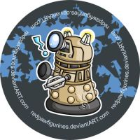 Dalek Chibi Badge by RedPawDesigns