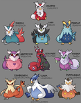 Delibird Mixed Breeds by ZoeStanleyArts