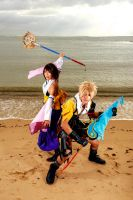 Yuna And Tidus: Battle by SakuMiyuku