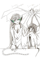 Grimmjow and ...Ulquiorra by Grimmjou