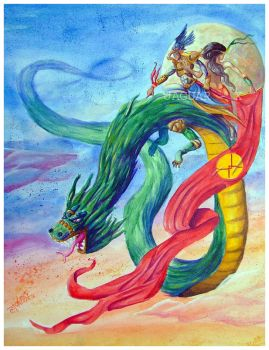 Quetzalcoatl and the Ometeotl by Jaguar-X