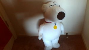 GIANT Brian Griffin Plush by PokeLoveroftheWorld
