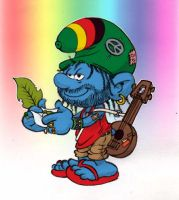 Rasta smurfs - more smurfish by AliceSacco