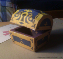 Kingdom Hearts Treasure Chest Papercraft by ScreamingRomeo