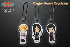 Hunger Games Keychains by Saiya-STORY