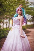 Princess Celestia Cosplay by hugsomebunny