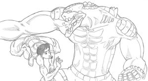 Taming the Tarasque by hyphenatedsuperhero