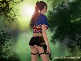 Lara walking in the evening by JpauCroft