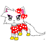 Snowpelt as Minnie Mouse by Sugerpie56