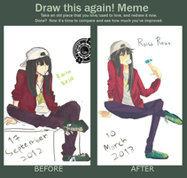 Before After Meme by Yaaju