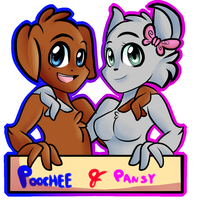 Poochee And Pansy by zumikaa