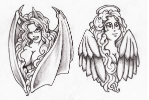 The Angel and the Devil by JWuorinen
