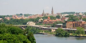 Georgetown and The Potomac by aeriefeeling